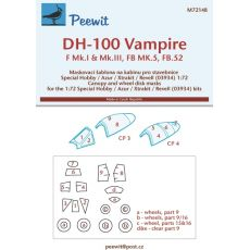 72148 - DH-100 Vampire - pro modely Special Hobby